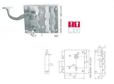 drr dorfschmied kastenschloss. Black Bedroom Furniture Sets. Home Design Ideas